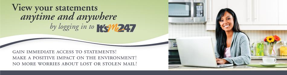 E-statements banner