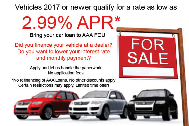 Refinance your vehicle with AAA FCU