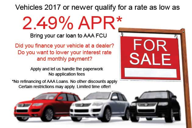 Refinance your vehicle with AAA FCU